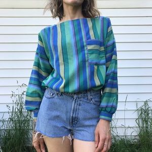 [vintage] striped top